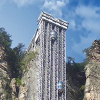 Project Reference:  elevator ropes used in elevators at Zhangjiajie National Forest Park in Hunan, Mainland China