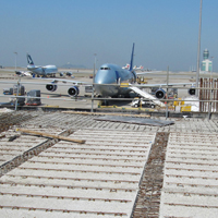Lattice girders in semi-slabs at the New Cathay Cargo Terminal